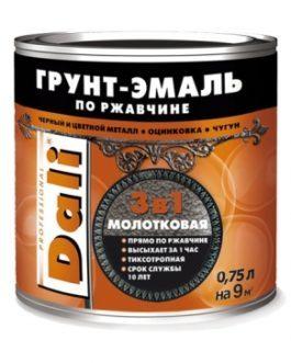 Dali-Грунт Эмаль 3в1 молотковая по металлу и ржавчине